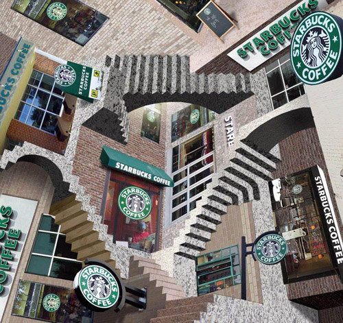 Starbucks Escher