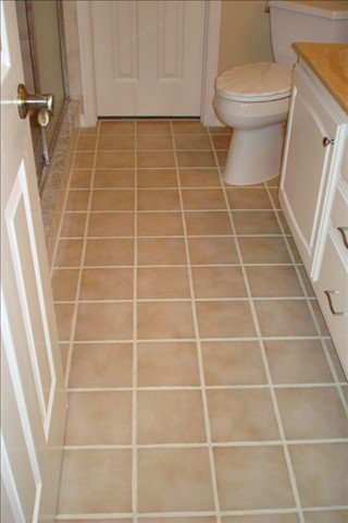 Regrouting tile floor